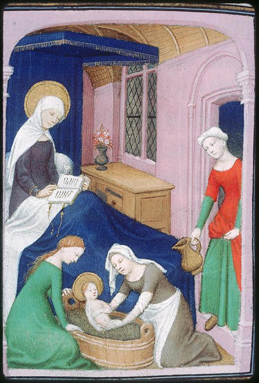 Naissance de Marie 1414 ca Breviaire de Louis de Guyenne Chateauroux, BM 02 fol 323v
