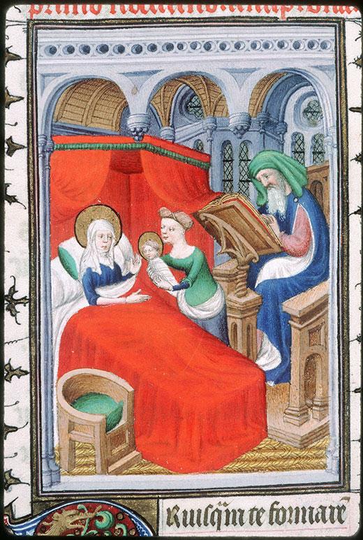 Naissance de St Jean Baptiste 1414 ca Breviaire de Louis de Guyenne Chateauroux, BM 02 fol 201
