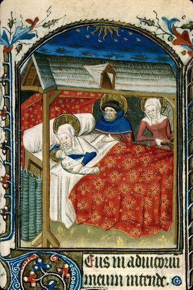 Nativite 1425-50, Heures a l'usage de Paris Carpentras BM ms 0049 f.061
