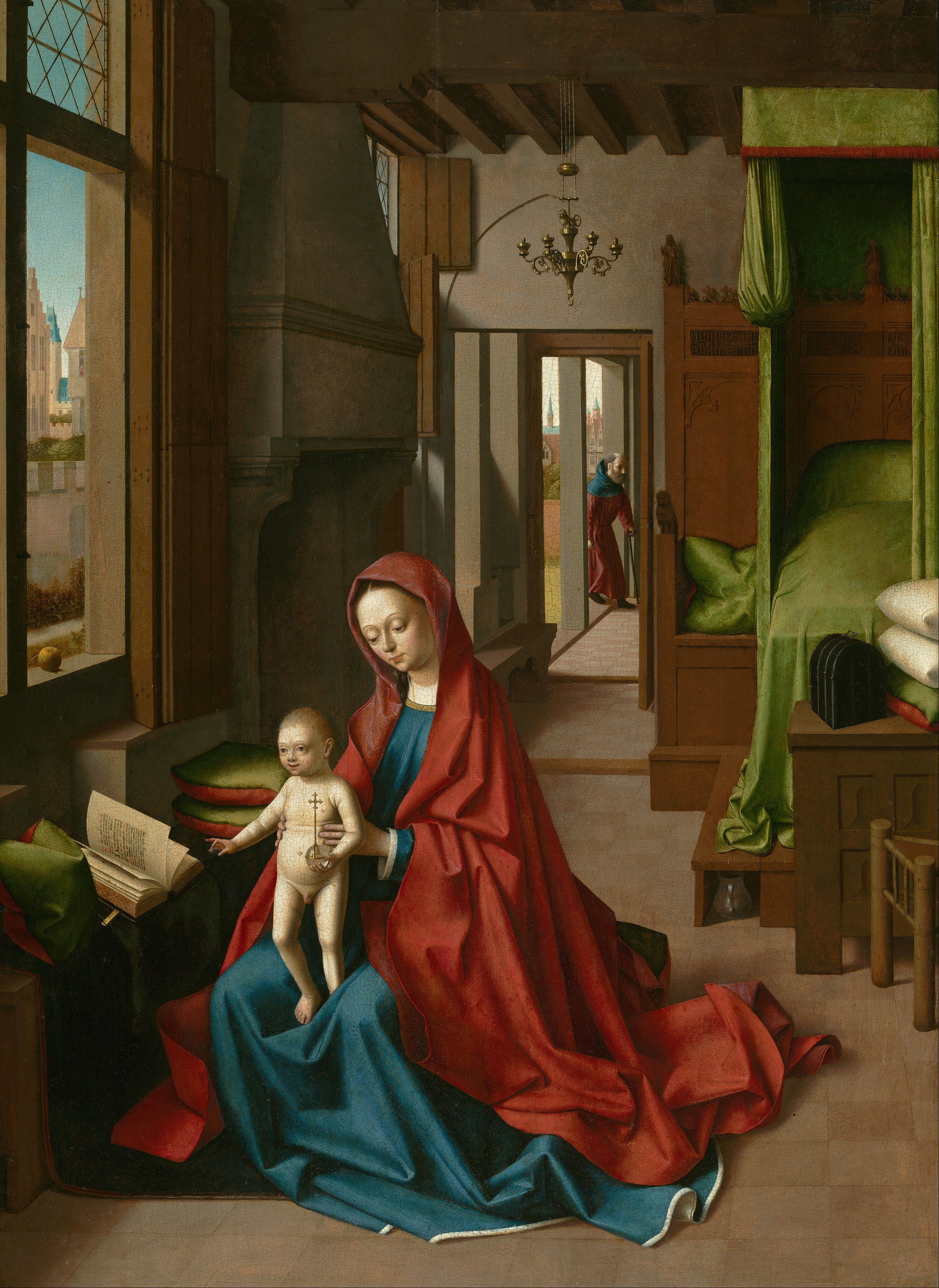 Petrus-Christus-attr-1460-1467-Virgin-And-Child-In-A-Domestic-Interior-Atkins-Museum-Kansas-City-scaled