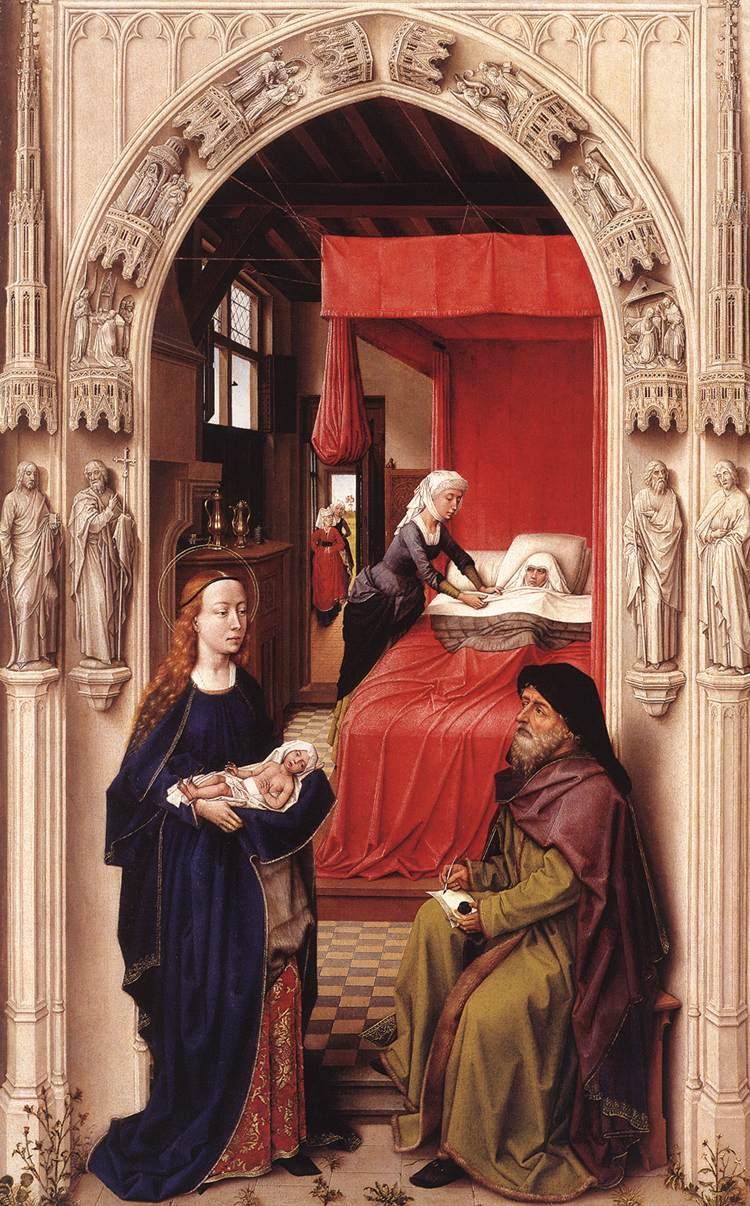 Rogier_van_der_Weyden 1450 ca The_Altar_of_St._John Gemaldegalerie Berlin panneau gauche