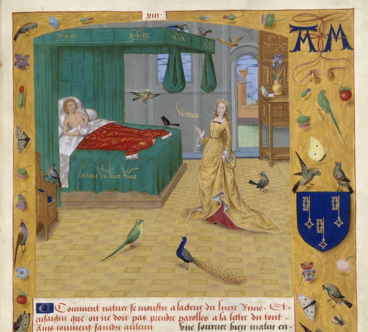 Songe d'Evrard de Conty Livre des echecs amoureux BnF, Francais 9197 f.13