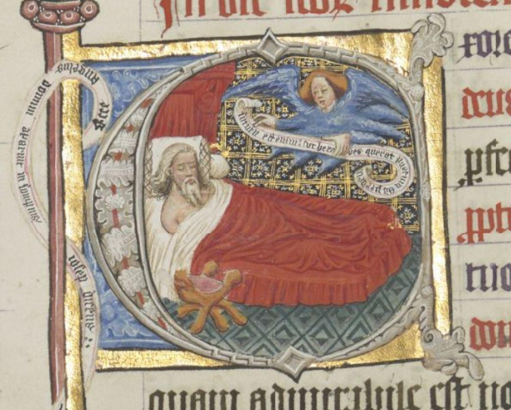 Songe de Joseph Missel Sheldrake 1399-1407 British Library Add MS 74236 Fol 42