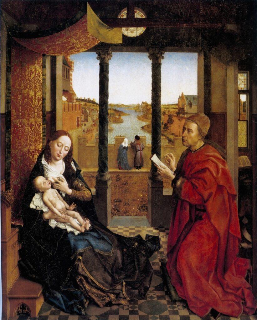 Van der Weyden 1435 St Luc peignant la Vierge Museum Fine arts Boston
