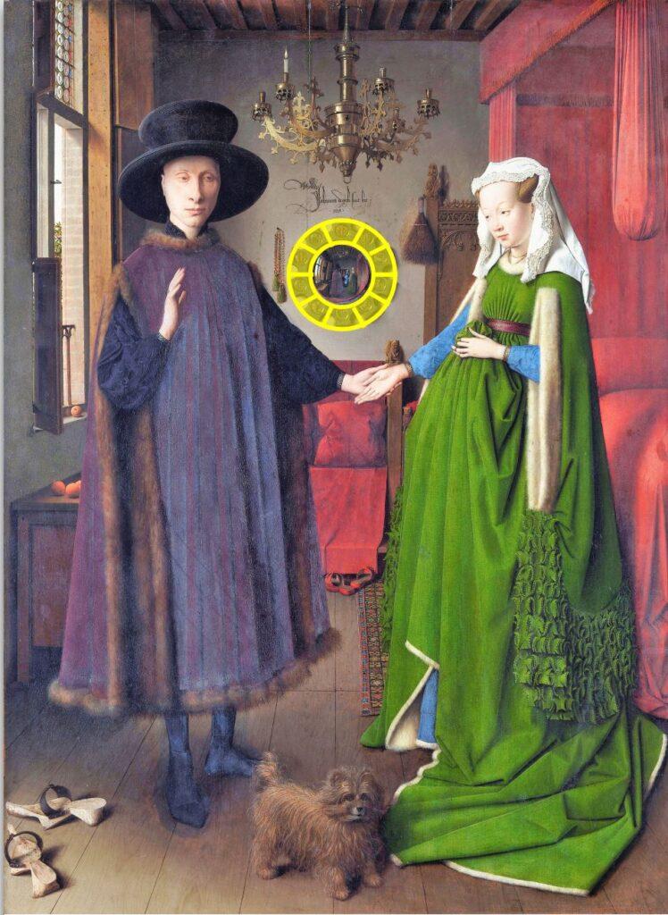 Van_Eyck 1434 _Arnolfini_Objet organisateur