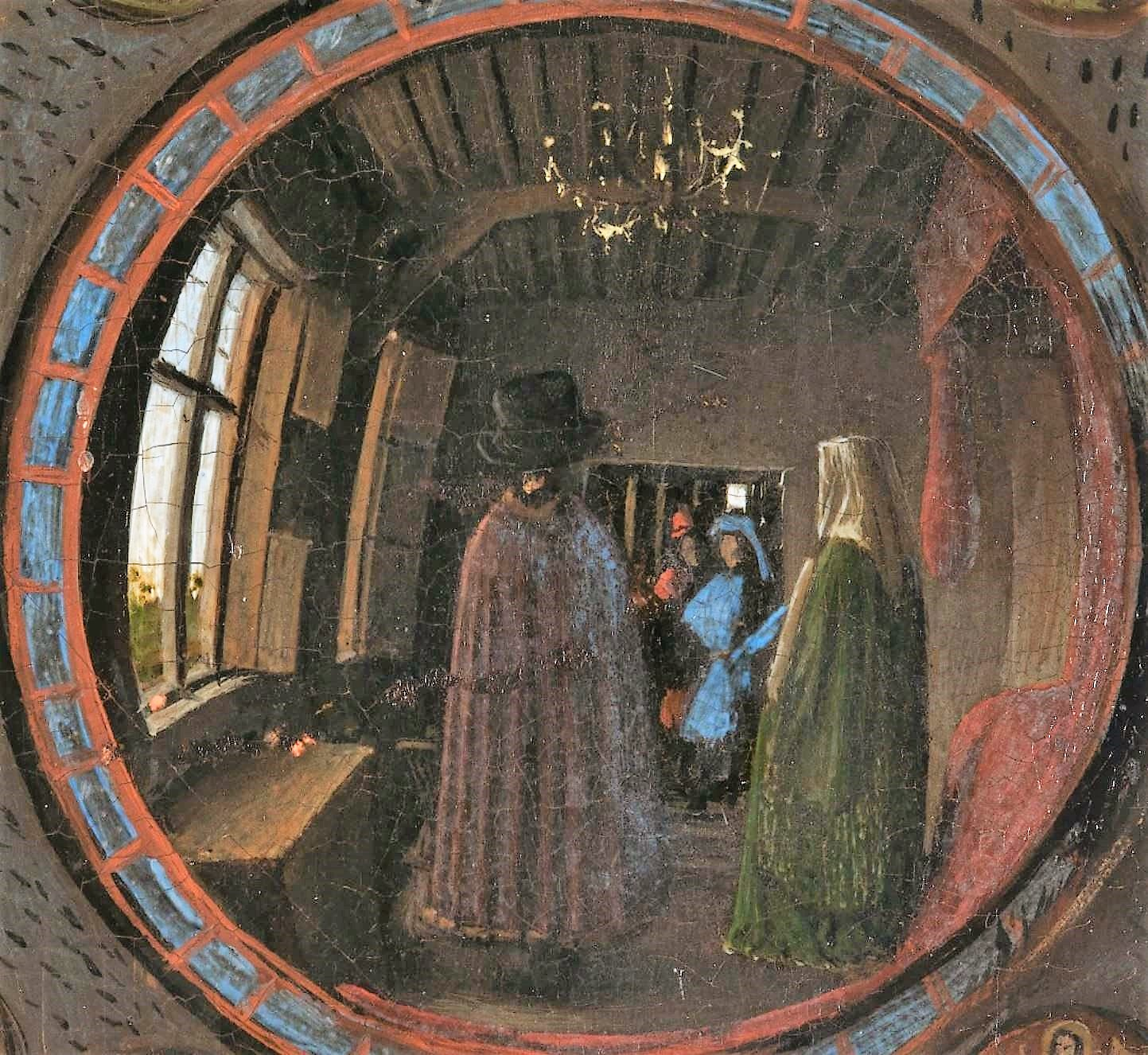 Van_Eyck 1434 _Arnolfini_Portrait reflet