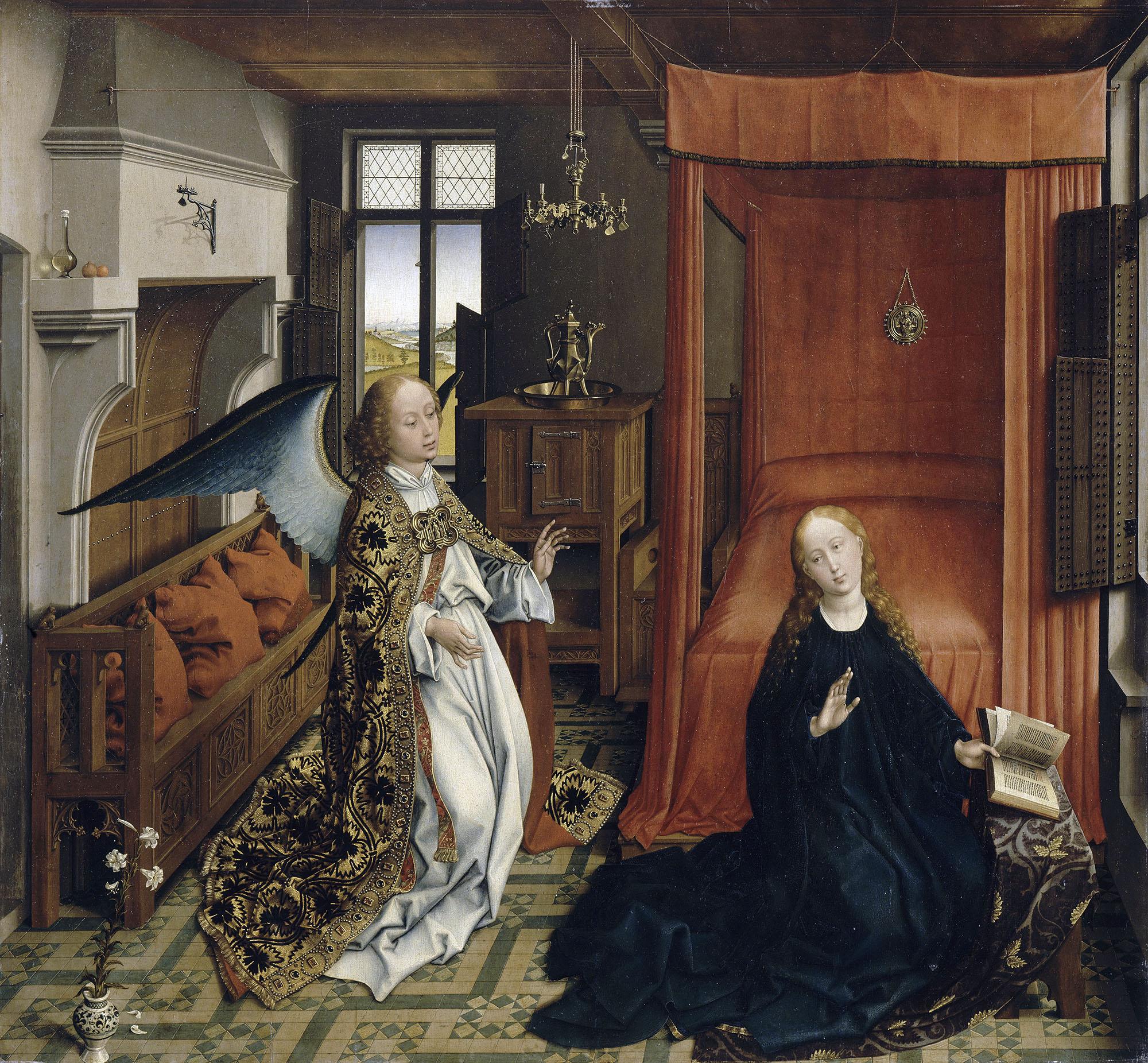 van der weyden 1434 ca annonciation