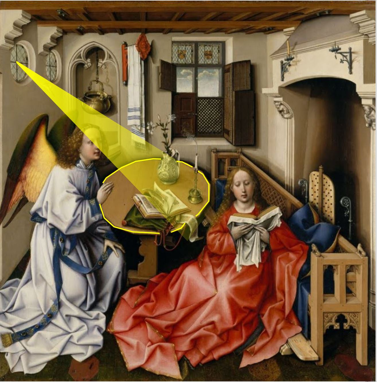 van der weyden 1434 ca annonciation Louvre Merode
