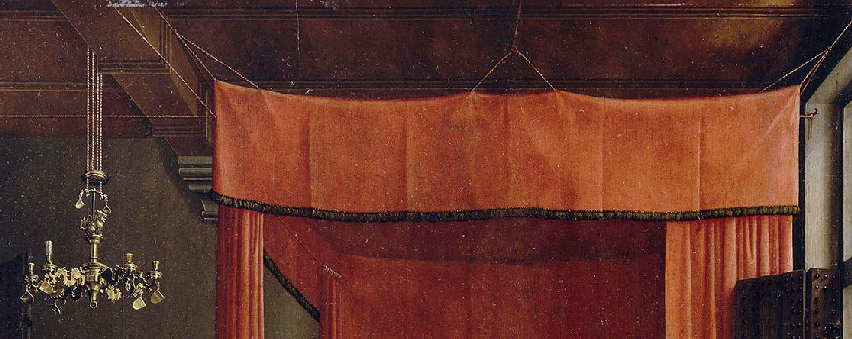 van der weyden 1434 ca annonciation Louvre detail lit