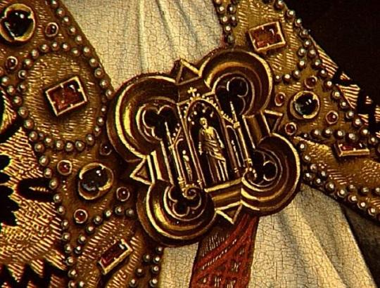 van der weyden 1434 ca annonciation Louvre medaillon Pere (C) RMN-Grand Palais Gérard Blot