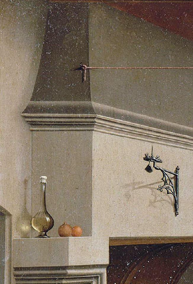 van der weyden 1434 ca annonciation Louvre ombres
