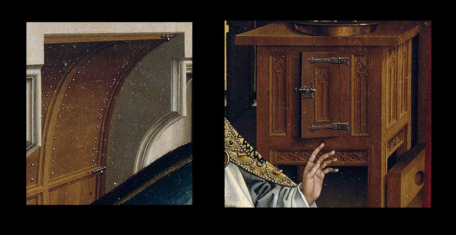 van der weyden 1434 ca annonciation Louvre verrous