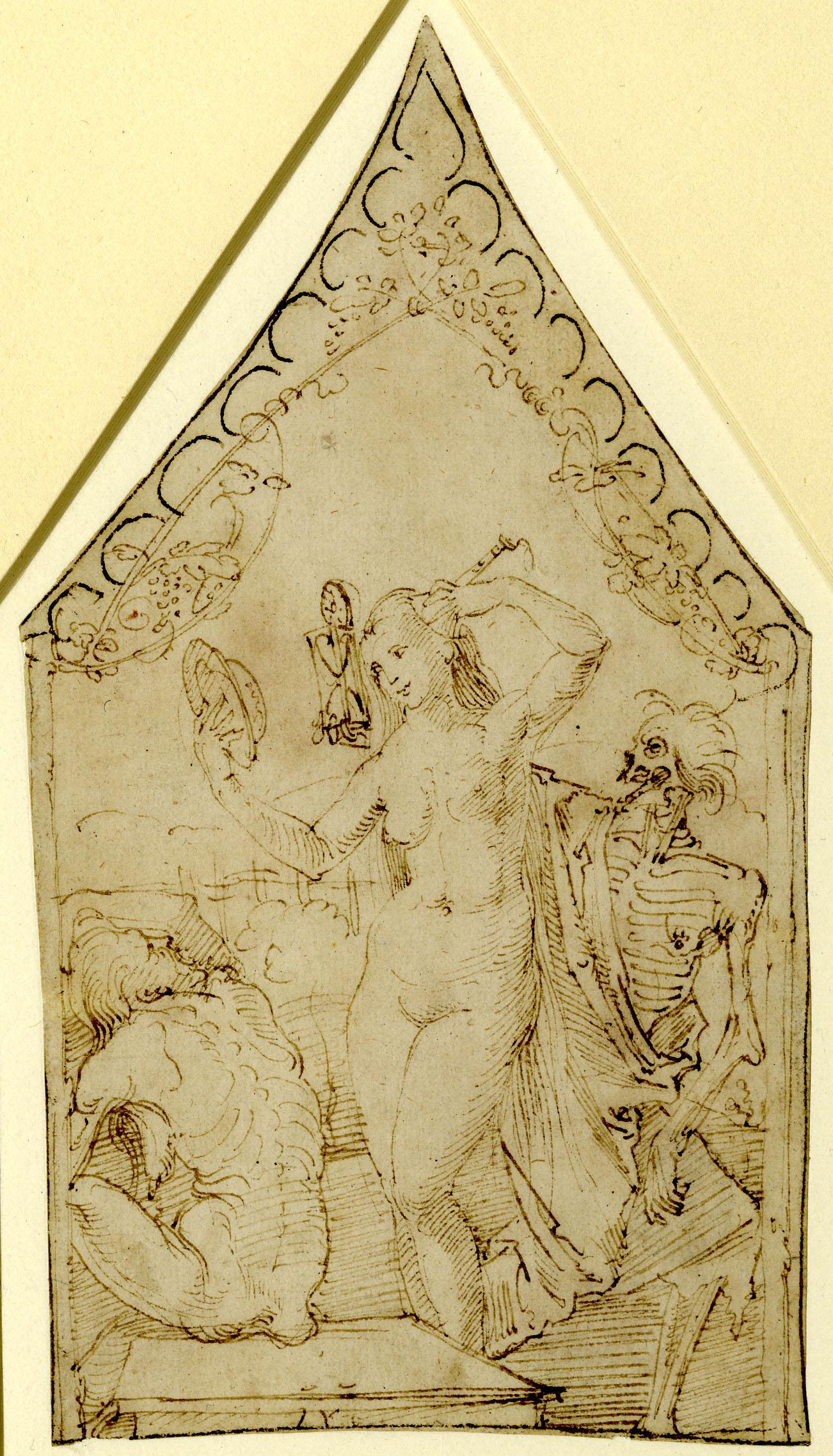 Durer Allegory of Youth, Age and Death 1520 ca dessin British Museum