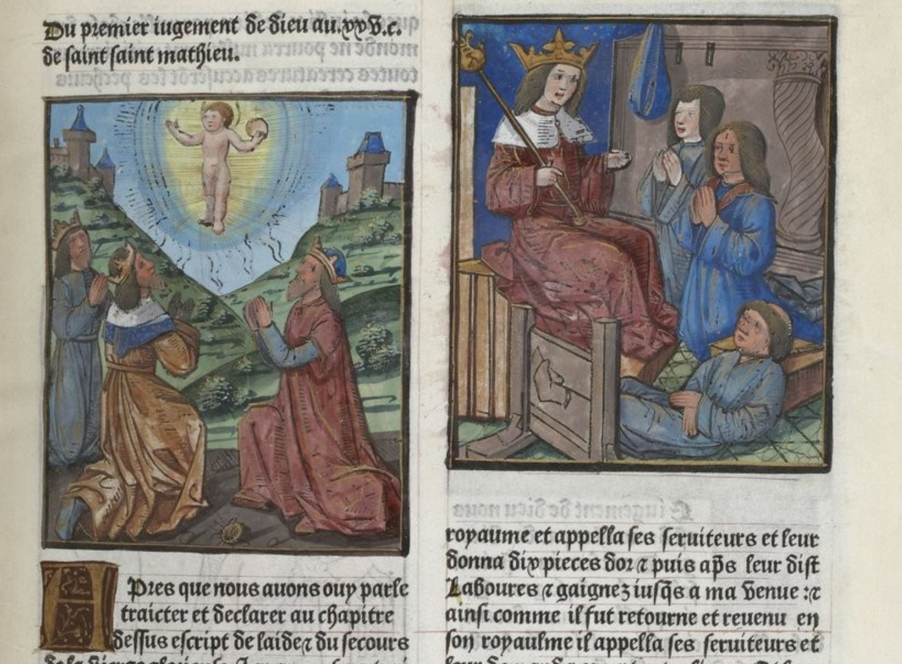 Le Mirouer de la redemption de l'umain lignage, 1493-94, BNF VELINS-906 fol157r Gallica