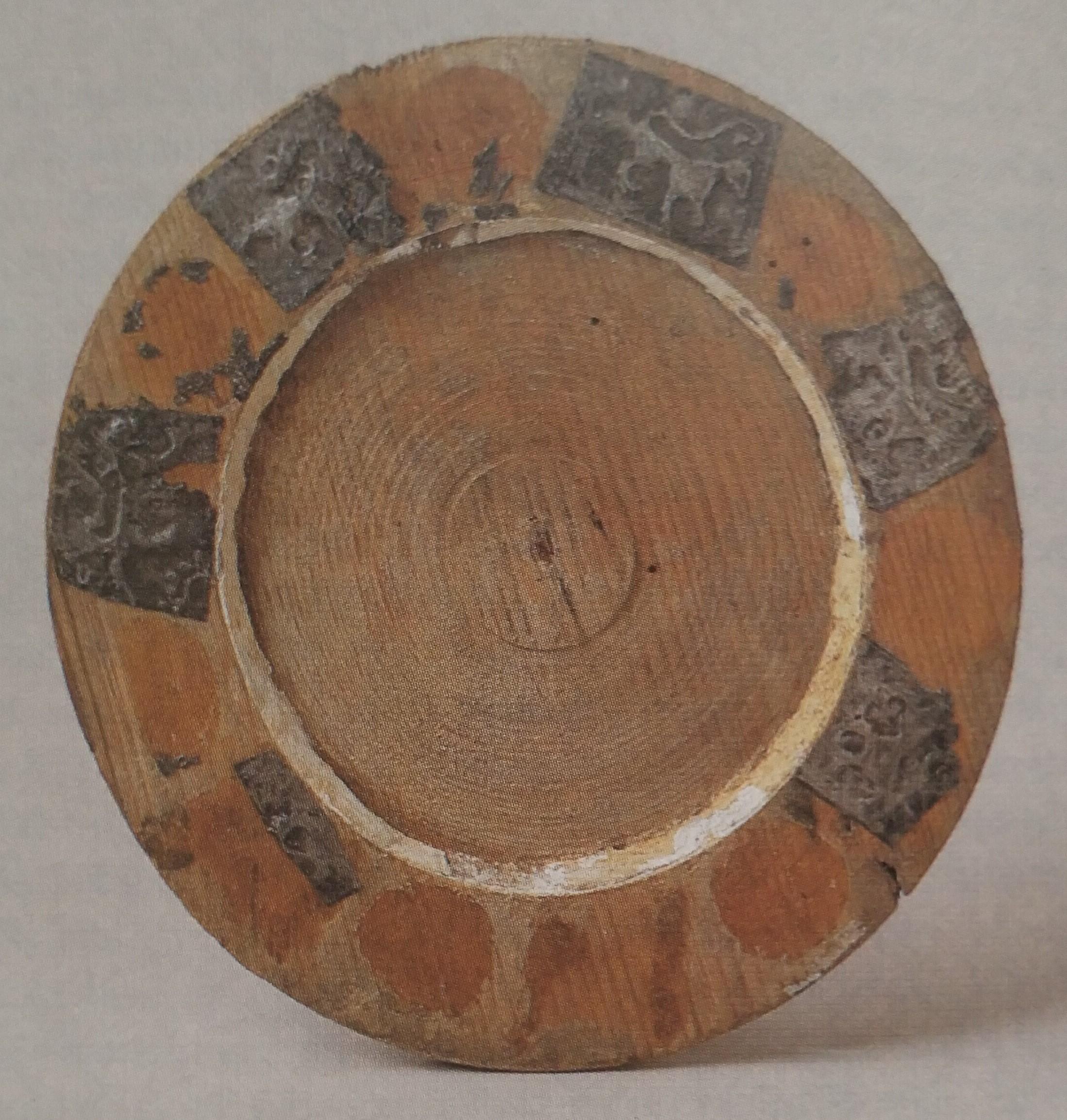 Lubeck Cadre de miroir a medaillons XVeme siecle