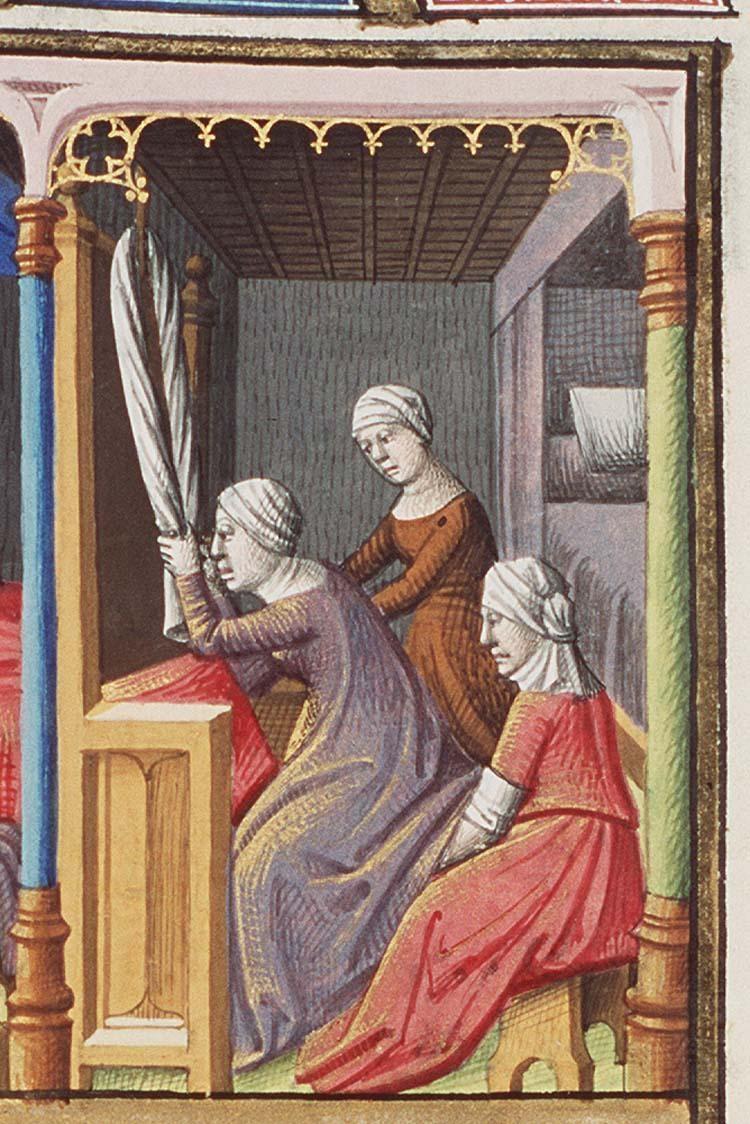 Naissance d'Alexandre le Grand Francois Maitre, 1475-1480, La Cite de Dieu, Saint Augustin, The Hague, MMW, 10 A 11 fol 233r
