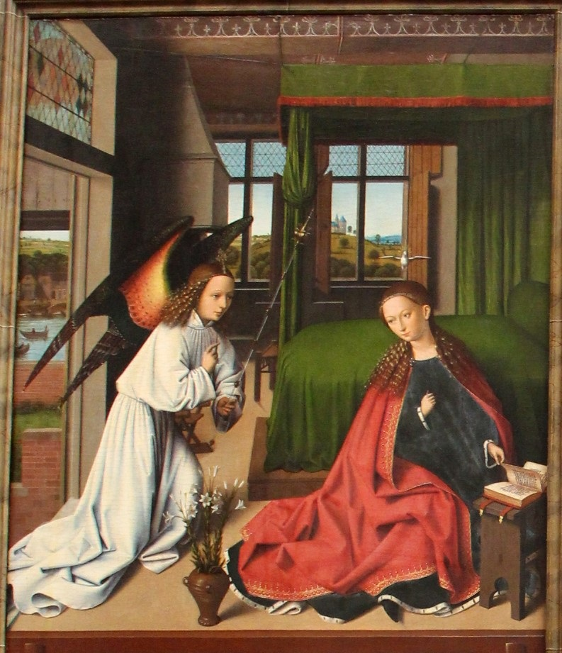 Petrus_christus 1452 annunciation Gemaldegalerie Berlin