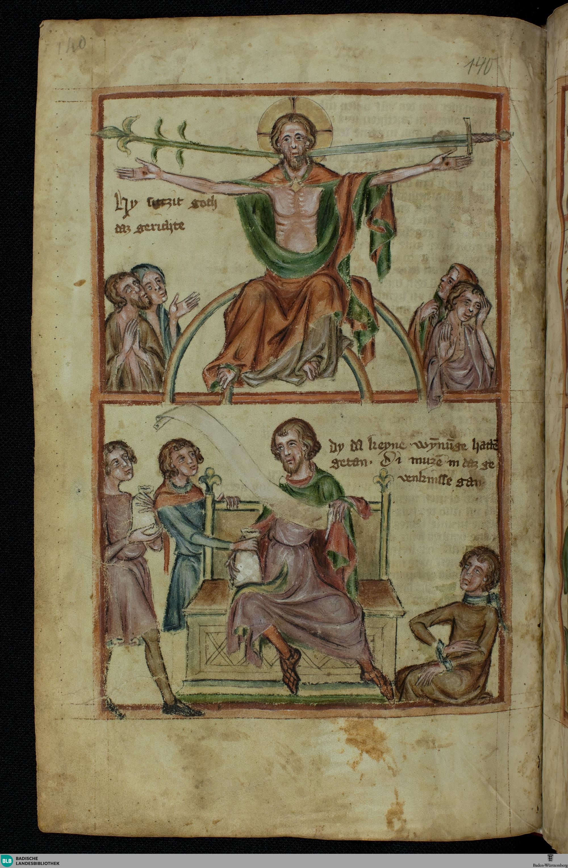 Speculum humanae salvationis 1350 ca Cod. Karlsruhe 3378 fol 140