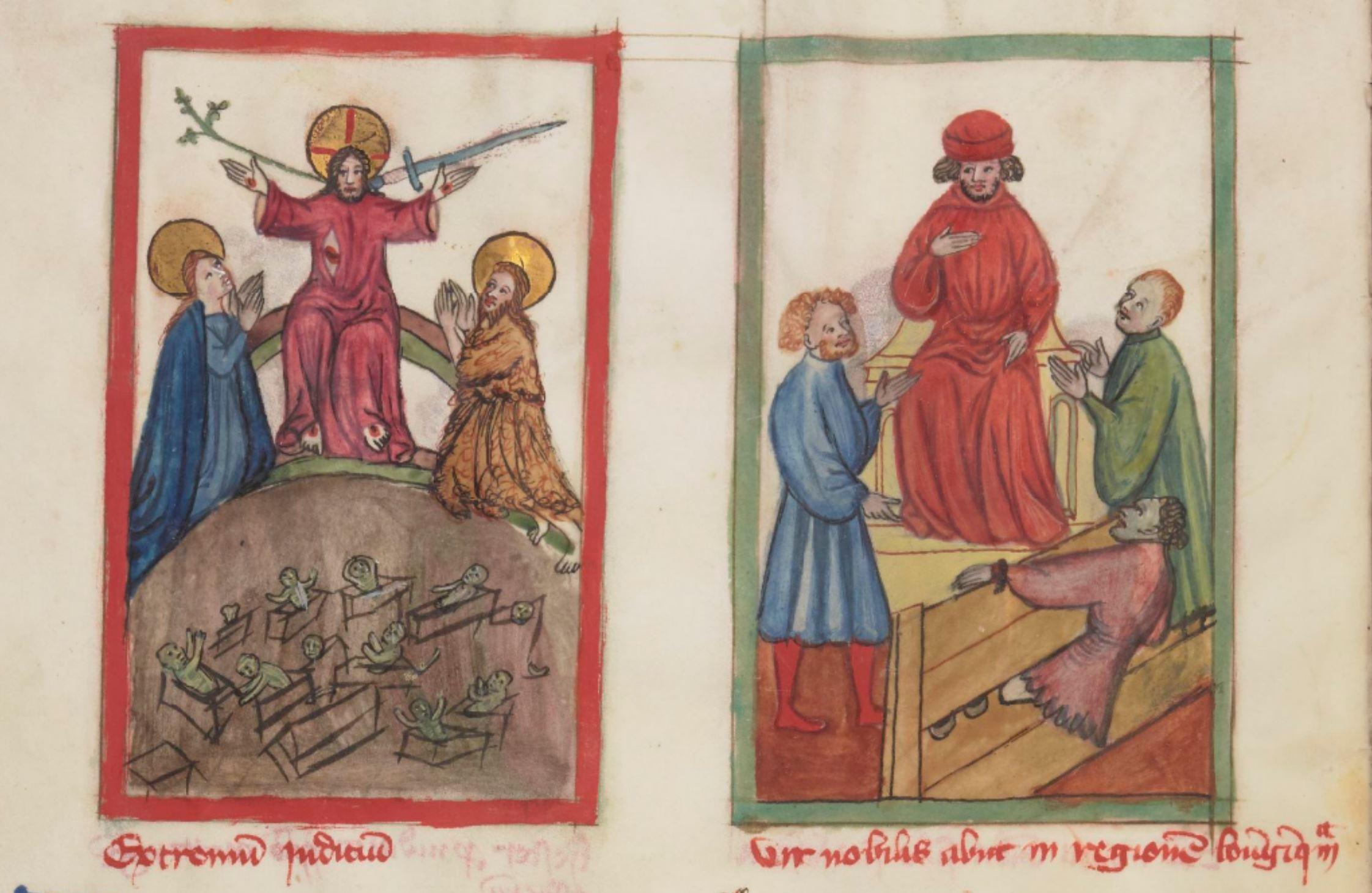 Speculum humanae salvationis, 1400-1450, BNF MS lat. 9585 fol 45v gallica
