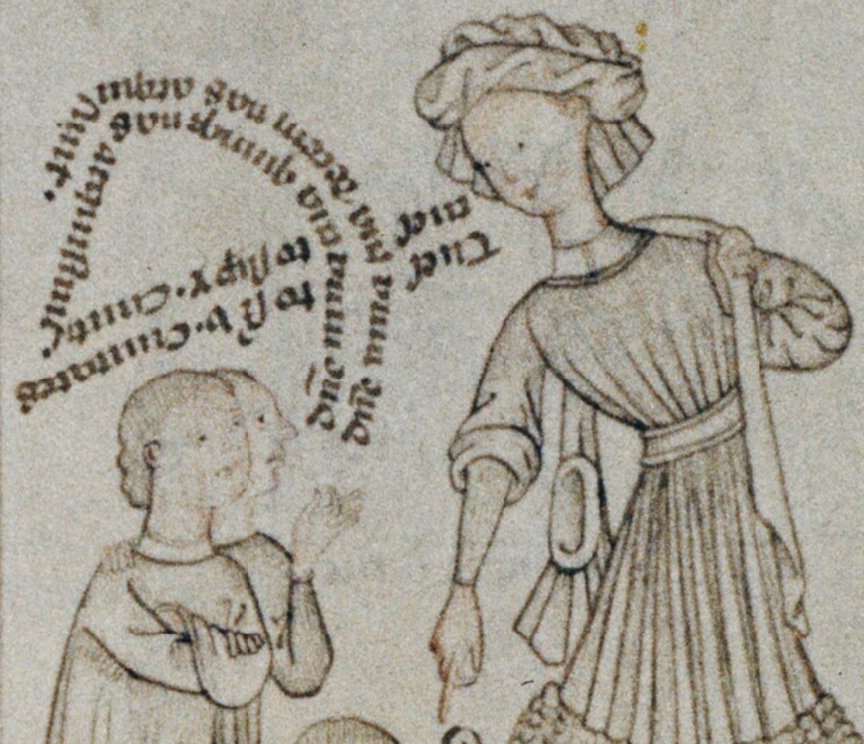 Speculum humanae salvationis 1430-50 Oxford, Bodleian Library Douce 204, fol. 40r detail