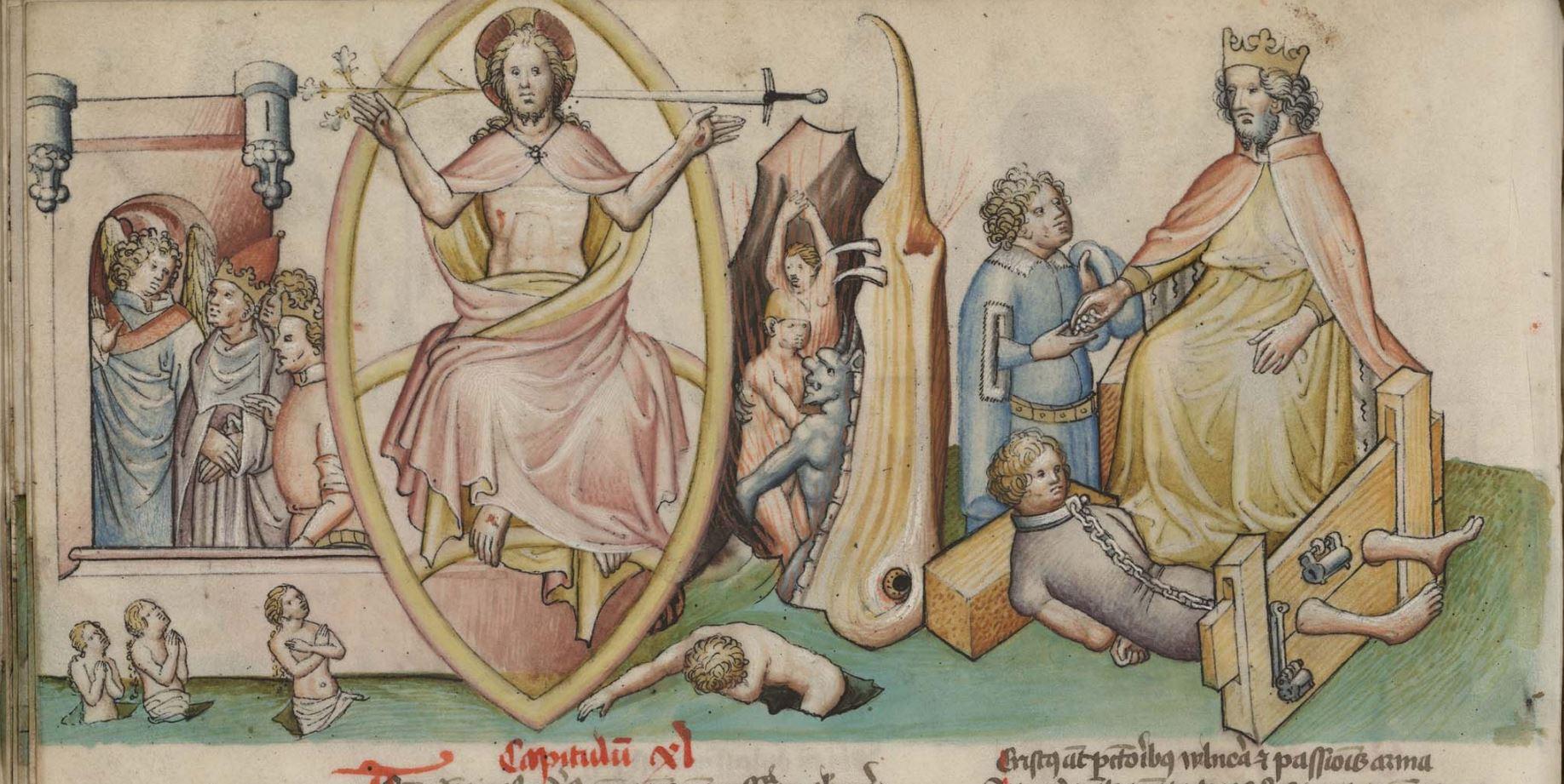 Speculum humanae salvationis 1432 Madrid, Biblioteca Nacional de Espana, Vit. 25-7 fol 36v