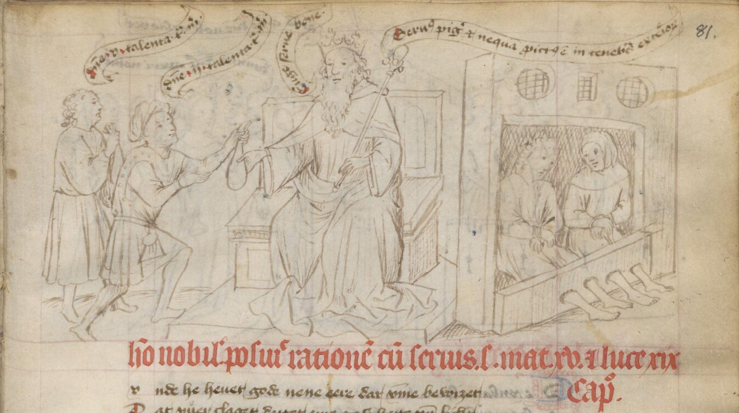 Speculum humanae salvationis, 1440 ca Copenhagen Kongelige Bibliotek GKS 79 fol. 81r