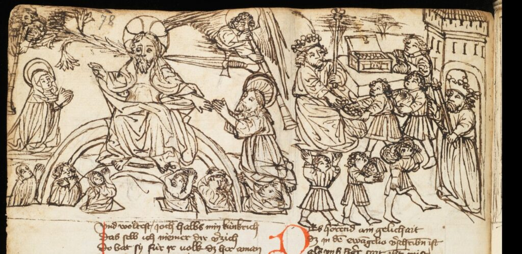 Speculum humanae salvationis 1440 ca St. Gall, Kantonsbibliothek, VadSlg Ms. 352,1-2 fol 78