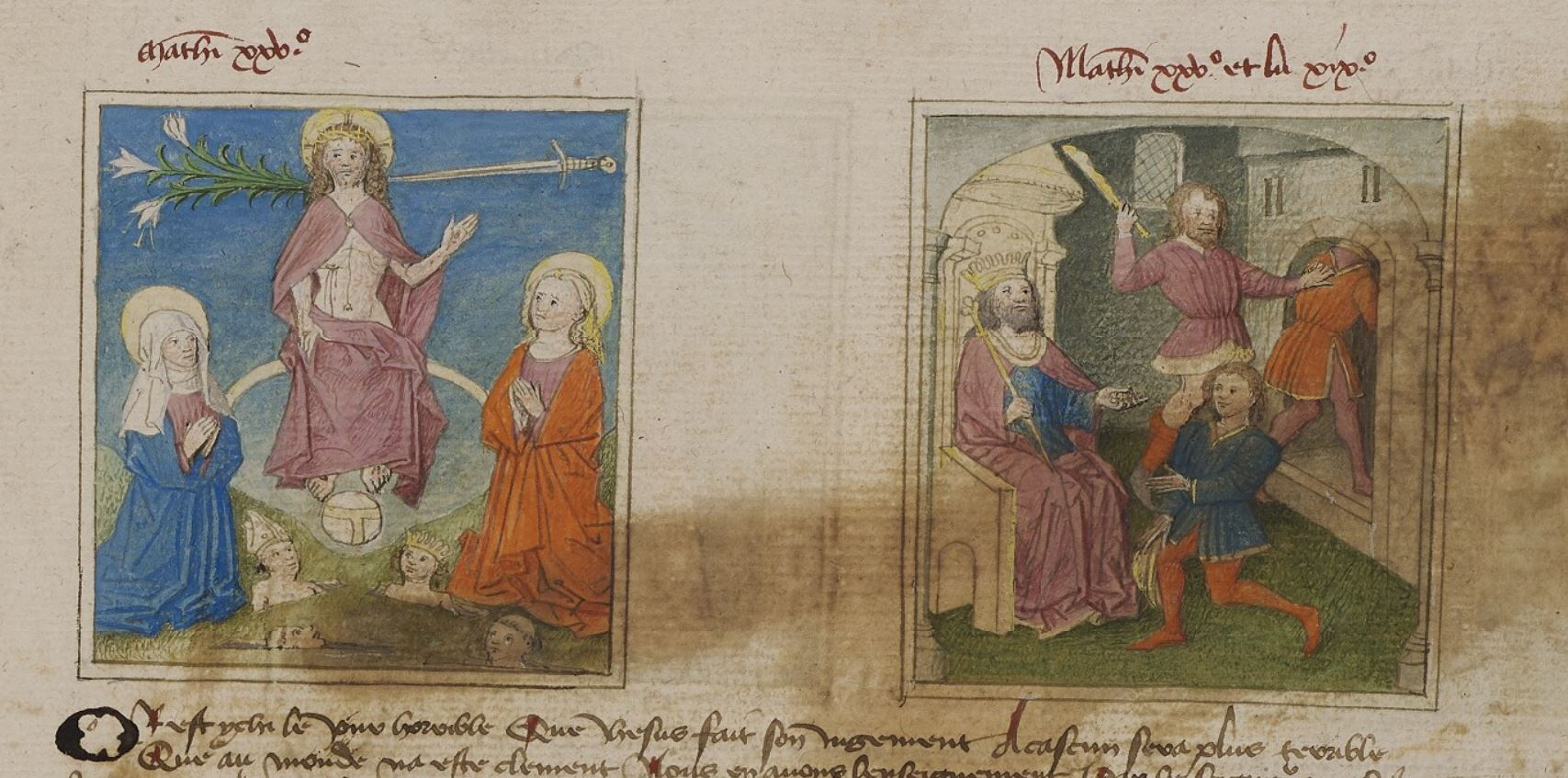 Speculum humanae salvationis 1450 ca Saint-Omer Bibliothèque municipale 183, fol. 40r