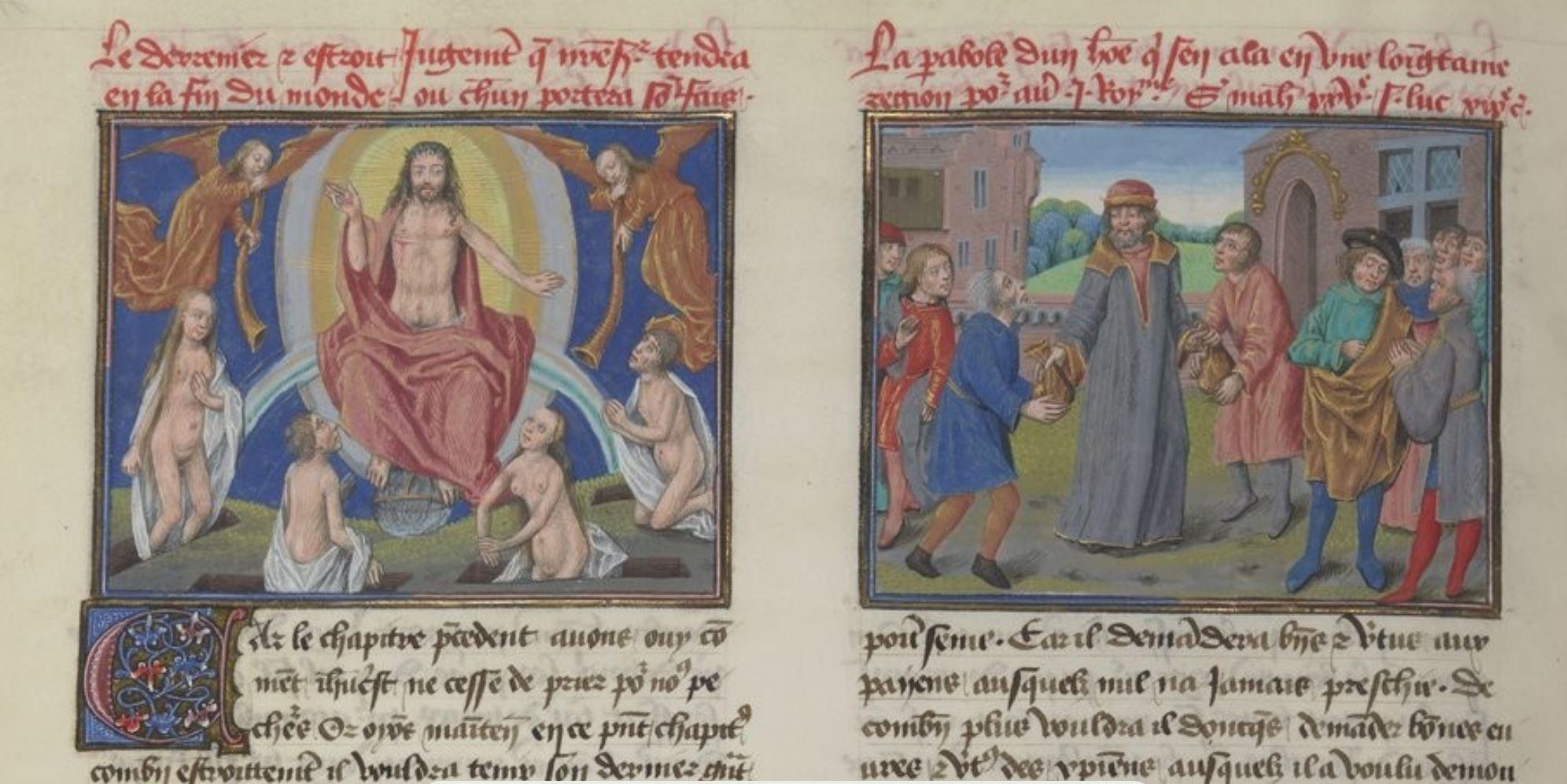Speculum humanae salvationis, 1485 ca BNF fr. 6275, fol. 41v