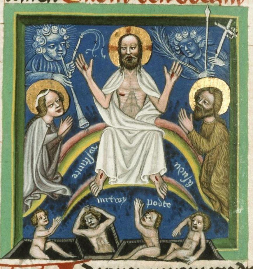Speculum humanae salvationis, vers 1420, Prague, Musee nat., Bibl., III. B. 10, f. 045v
