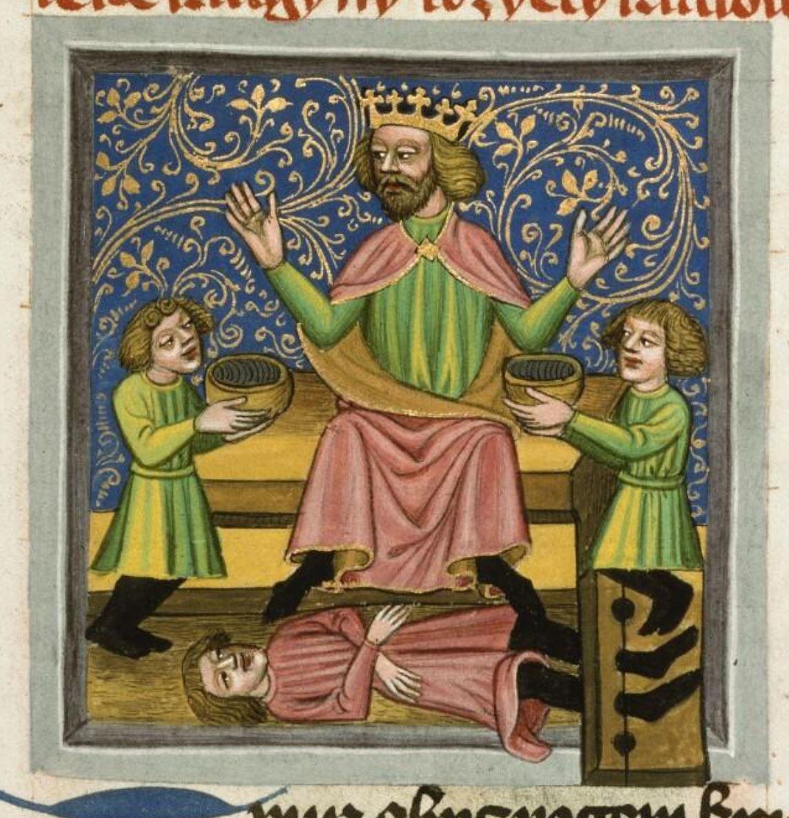 Speculum humanae salvationis, vers 1420, Prague, Musee nat., Bibl., III. B. 10, f. 046