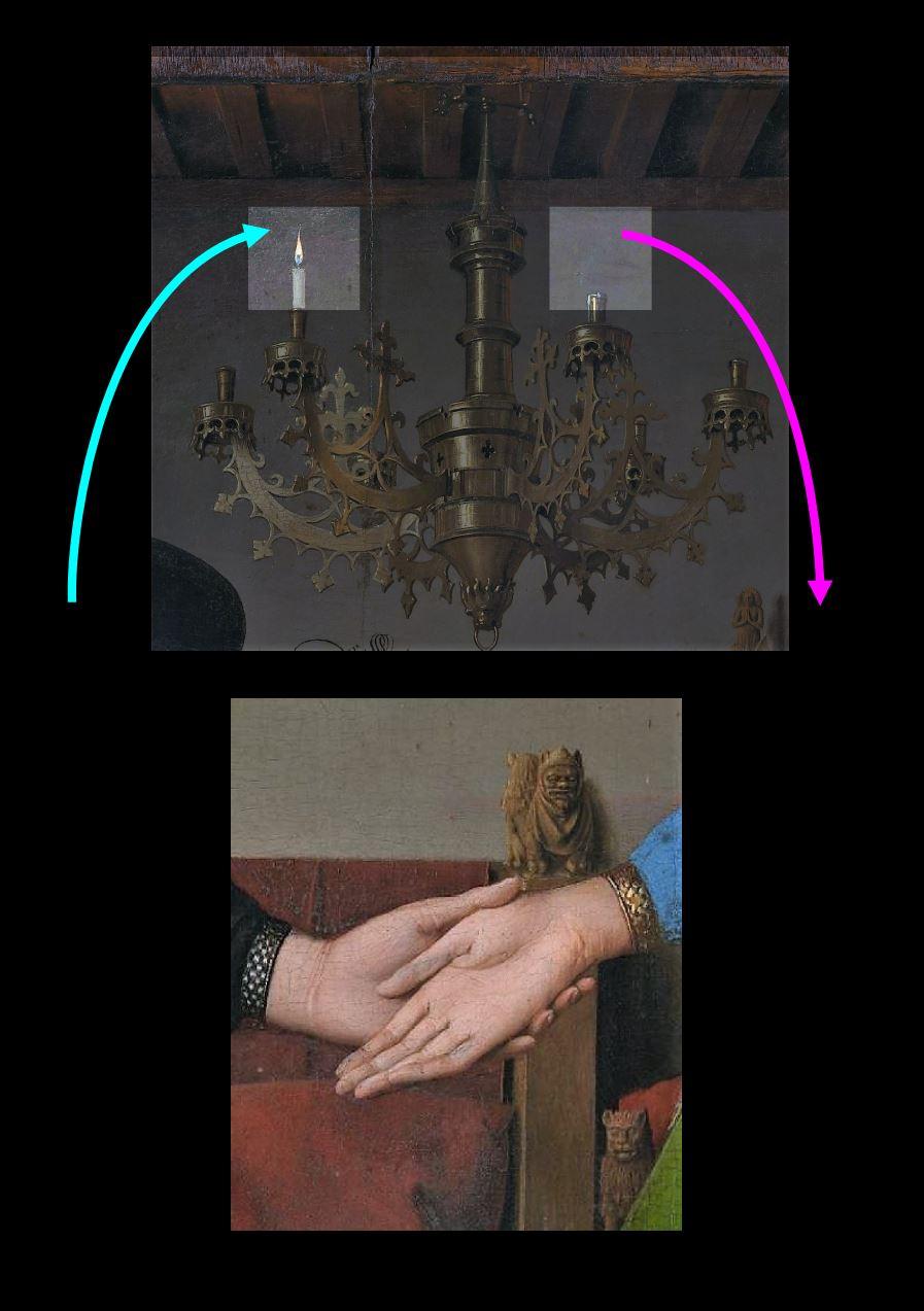 Van_Eyck 1434 _Arnolfini_Portrait luste et mains