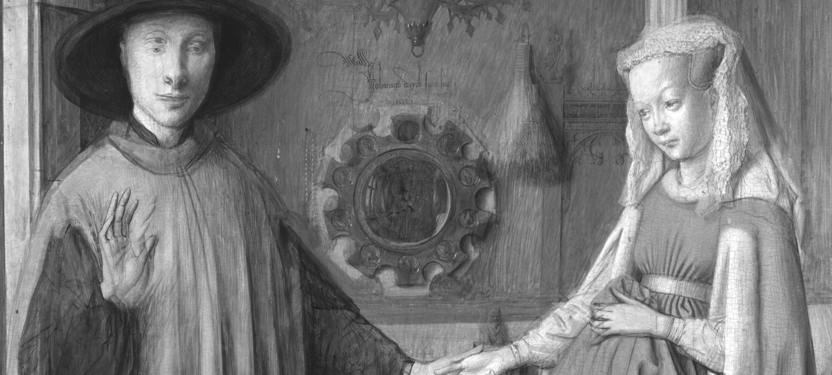 Van_Eyck 1434 _Arnolfini_Portrait radiographie