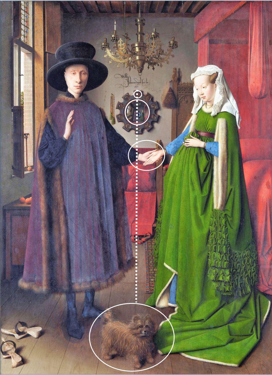 Van_Eyck 1434 _Arnolfini_Portrait schema Baldwin