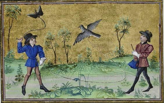 1450-60master-of-the-girart-de-roussillon-workshop-henri-de-ferri-res-le-livre-du-roy-modus Ms 10.218–19, fol. 65 v, Brussels, Bibliotheque Royale.