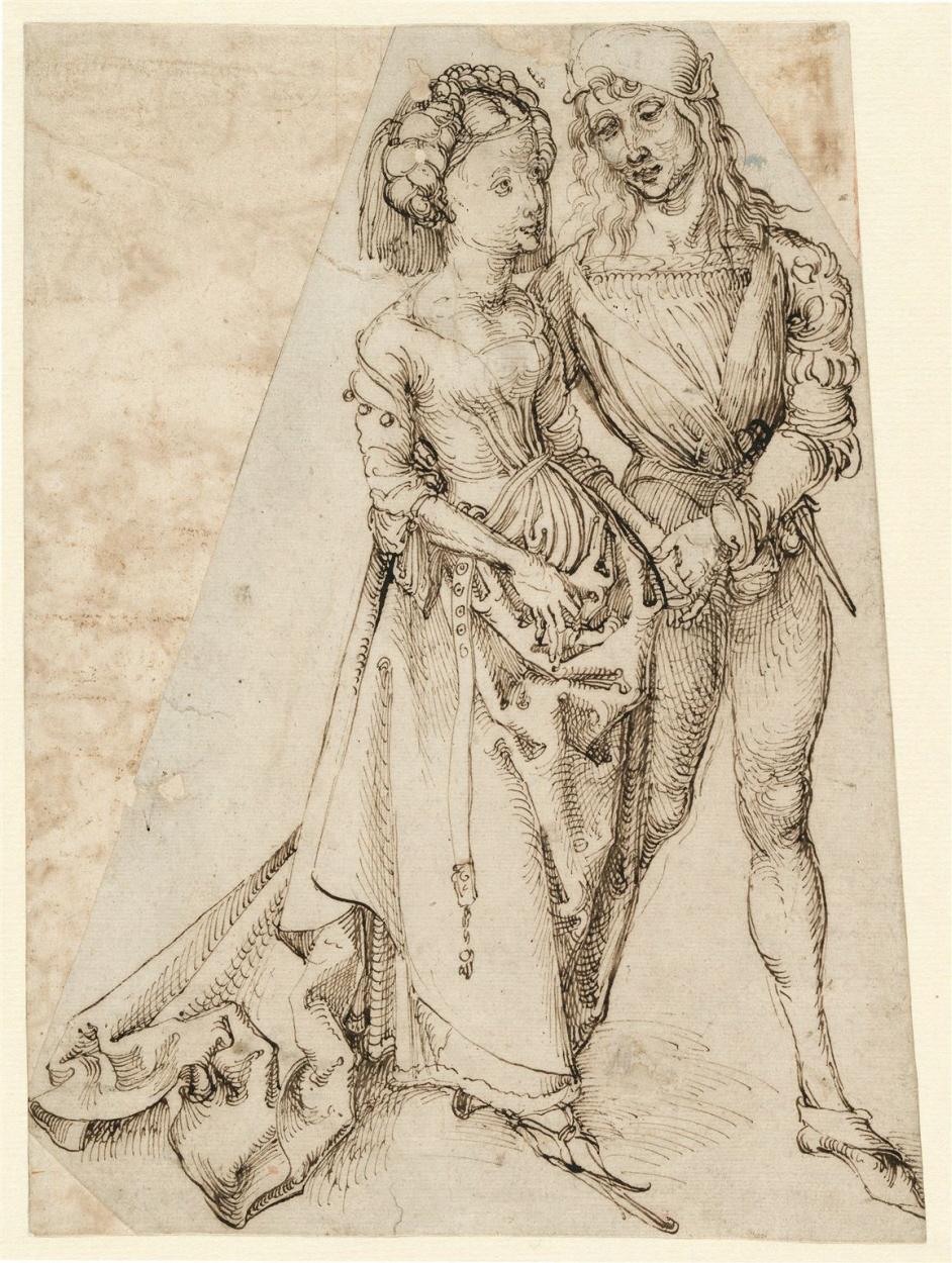 1492-94 Durer DAS LIEBESPAAR, Hamburger Kunsthalle, Kupferstichkabinett