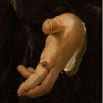 FURTENAGEL 1527 Portrait du peintre Hans Burgkmair avec son epouse Anna main droite
