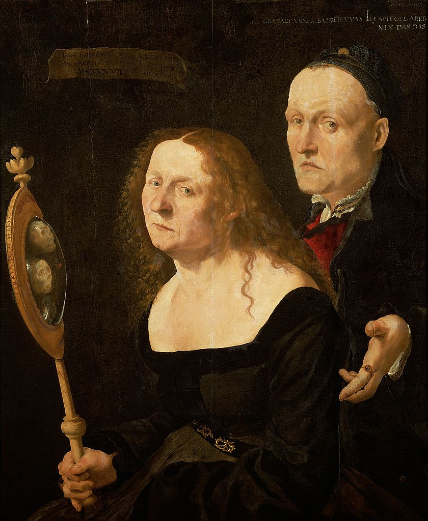FURTENAGEL 1527 Portrait du peintre Hans Burgkmair avec son epouse Anna