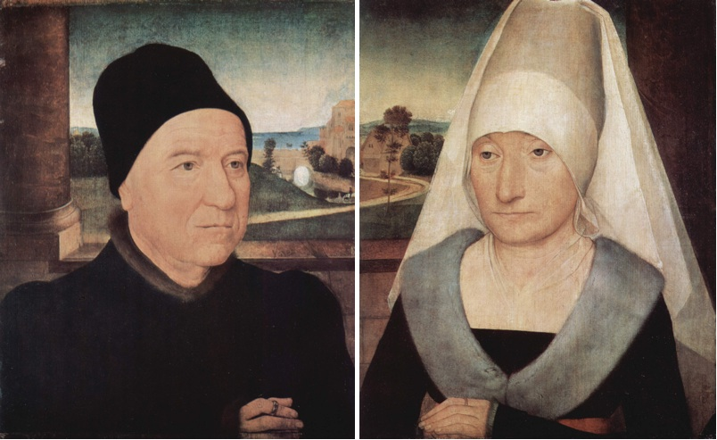 Hans_Memling_1470-72 Portrait_of_two_older gemaldegalerie Berlin et Louvre
