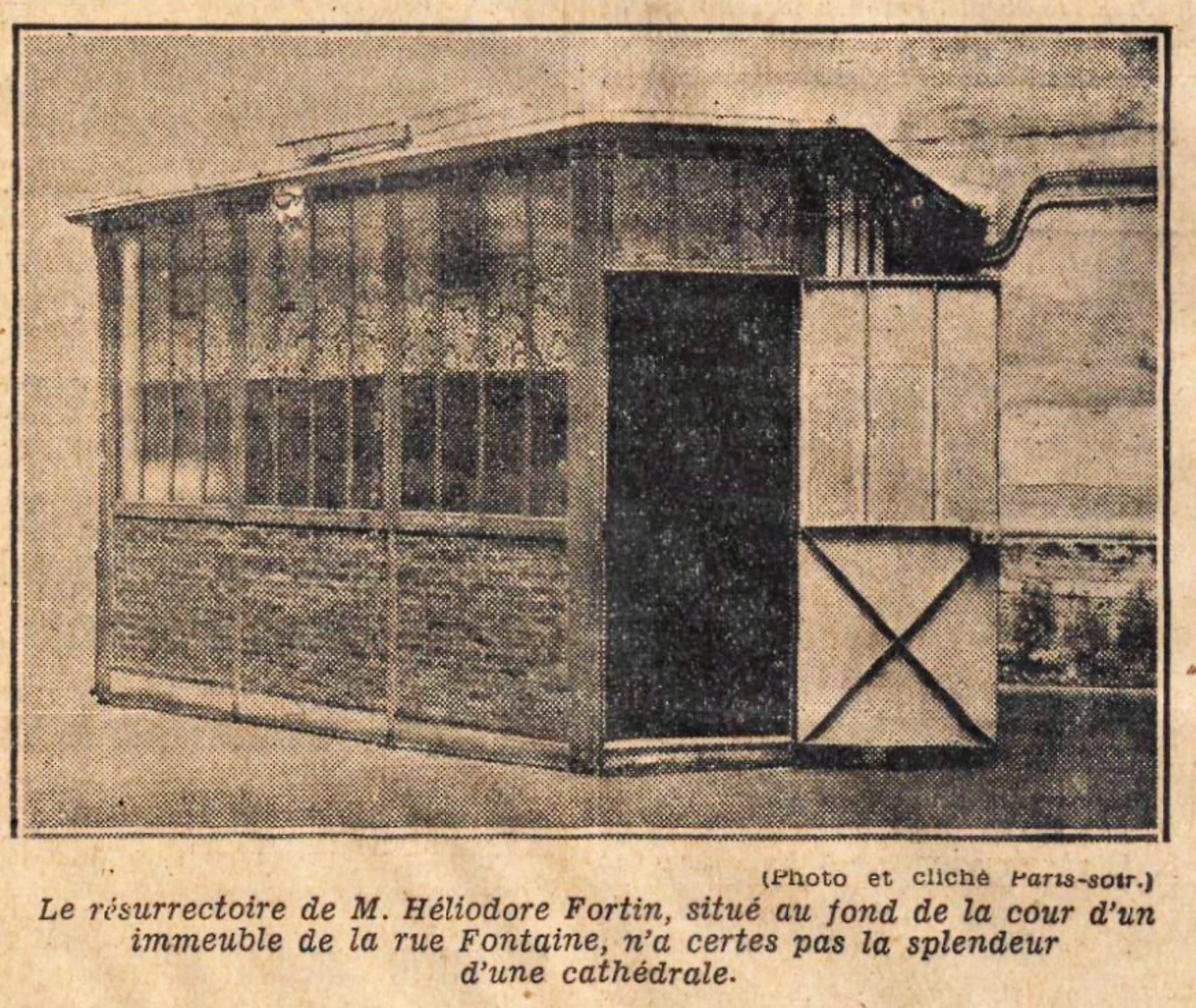 Heliodore Fortin Paris Soir 14 septembre 1931 La chapelle Fortin