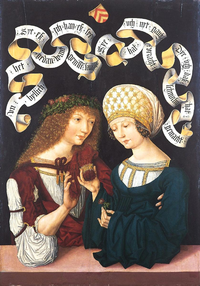 Meister des Amsterdamer Kabinetts 1480-85 Liebespaar Herzogliches Museum Gotha