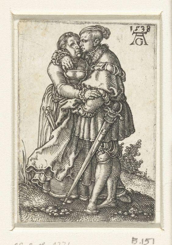 Omhelzend paar, Heinrich Aldegrever, 1538