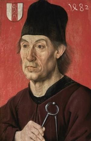 Portrait de Moritz Ensinger architecte de la cathedrale d'Ulm 1482 coll priv