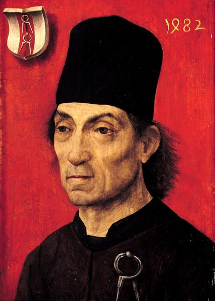 Portrait de Moritz Ensinger architecte de la cathedrale d'Ulm 1482 landesmuseum-Mayence