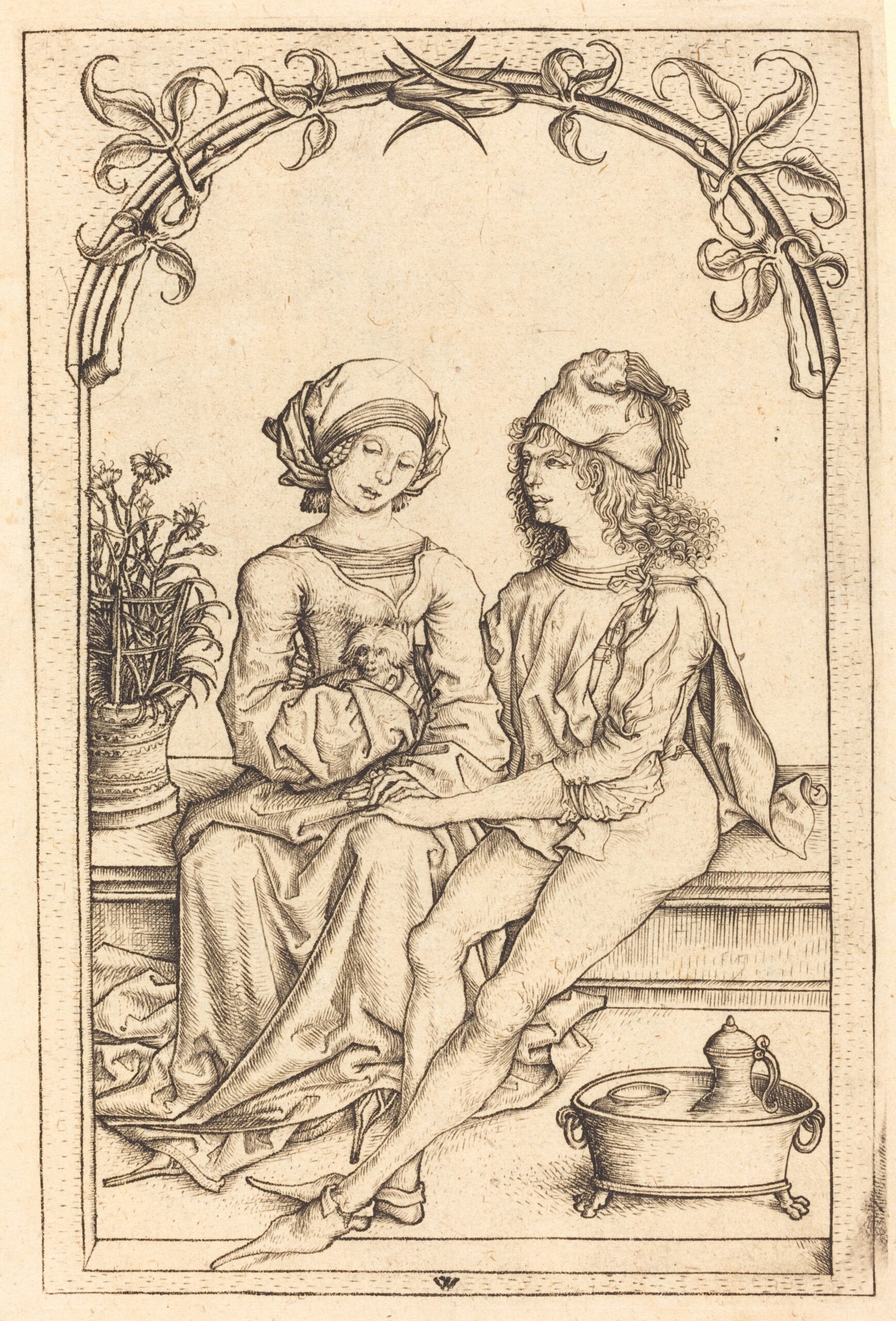 Wenzel von Olmutz after Master of the Housebook 1490 ca the_lovers NGA
