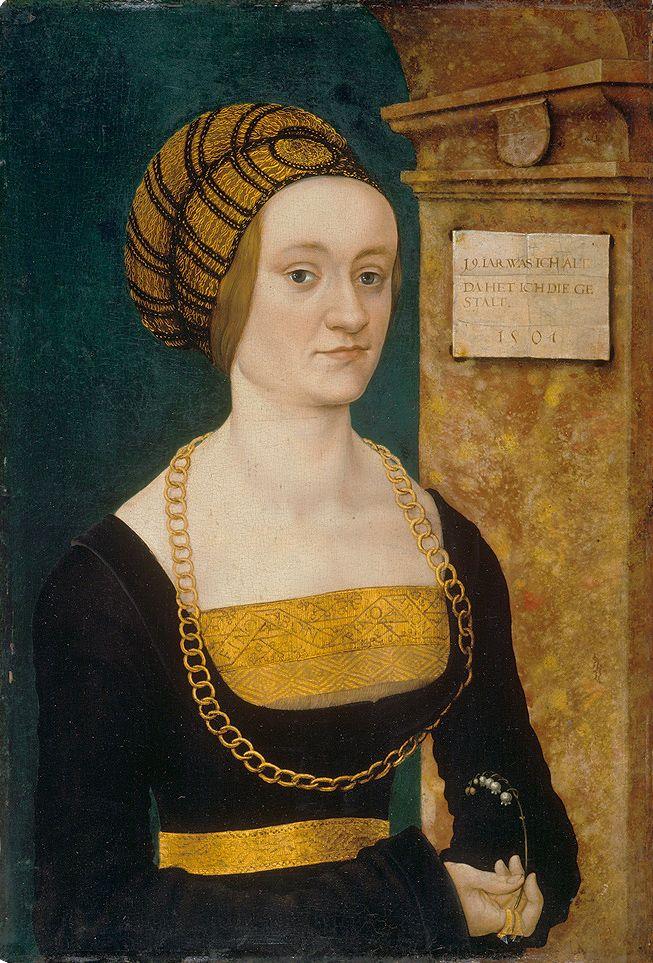 hans-burgkmair-d.-ae.-portraet-des-barbara schellenberger-15051 Walraff Richartz Museum Cologne