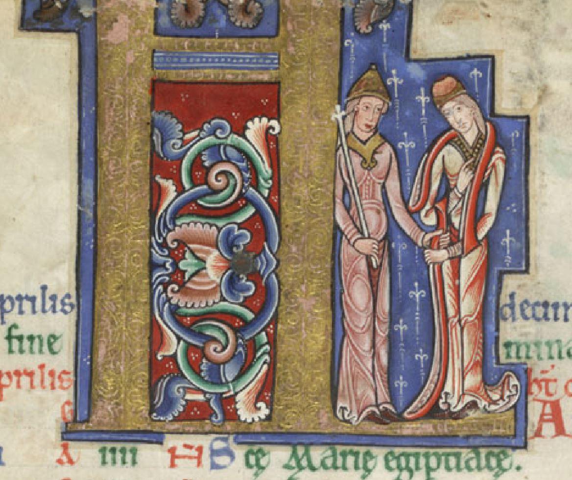 1170 ca Hunterian Psalter MS 229 Glasgow University Avril detail