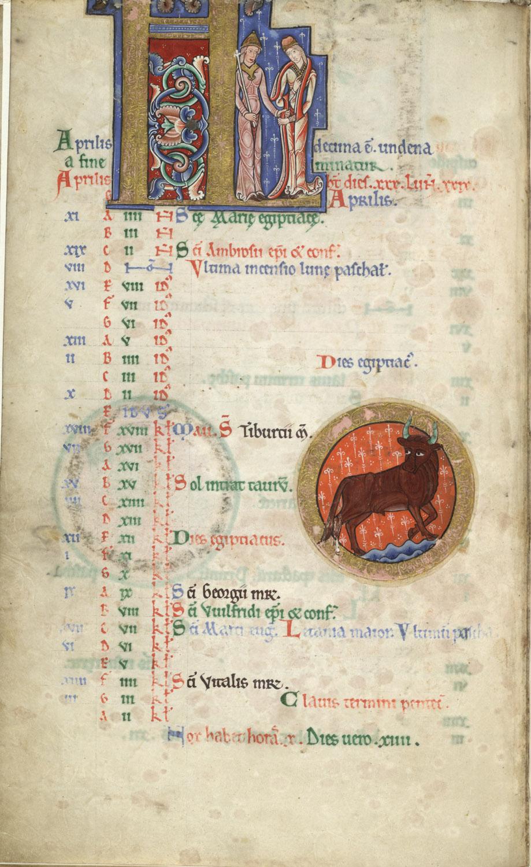1170 ca Hunterian Psalter MS 229 Glasgow University Avril
