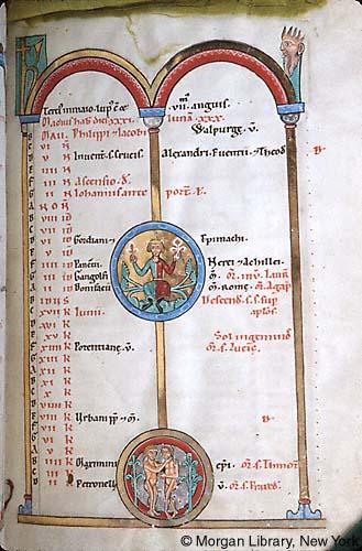 1225-50 ca Gradual, Sequentiary, and Sacramentary Weingarten Morgan Library MS M.711 fol. 4r Mai