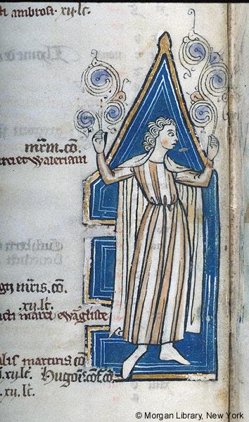 1255-56 Psalter Bruges, Morgan Library MS M.106 fol. 2v Avril
